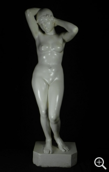 Alphonse SALADIN (1886-1953), Woman Bather, patinated plaster, 138 x 40 x 40 cm. Collection particulière. © Reynold Pasquette