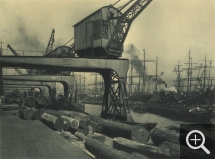 Franz SCHMIDT & Otto KOFAHL, Hamburg. Shipyards and Dry Dock, 1908, rotogravure, 16.8 x 22.7 cm. Le Havre, French Lines. © Le Havre, collection de l'association French Lines / Franz Schmidt et Otto Kofahl