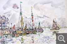 Paul SIGNAC (1863-1935), Blaye, April 13, 1929, watercolour, 29.3 x 43.8 cm. Collection particulière. © All rights reserved