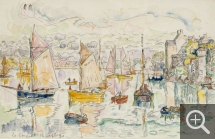 Paul SIGNAC (1863-1935), Le Conquet, September 12, 1930, watercolour, 27.6 x 43.5 cm. Private collection. © All rights reserved