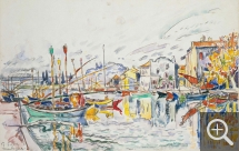 Paul SIGNAC (1863-1935), Martigues, ca. 1929, mine de plomb et aquarelle, 27,7 x 43,5 cm. © Little Rock, Arkansas Arts Center Foundation. Gift of James T. Dyke