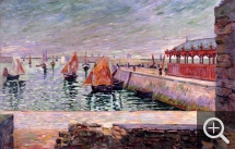 Paul SIGNAC (1863-1935), Port-en-Bessin, The Fish Market, 1884, oil on canvas, 59 x 91.5 cm. Collection particulière. © All rights reserved