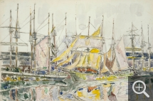 Paul SIGNAC (1863-1935), Saint-Malo, October 1929, gouache, charcoal and watercolour on paper, 29 x 44 cm. Collection particulière. © All rights reserved