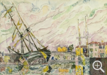 Paul SIGNAC (1863-1935), Saint-Tropez, ca. 1931, watercolour, 29 x 42 cm. Collection particulière. © All rights reserved