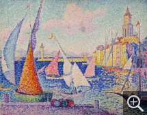 Paul SIGNAC (1863-1935), Saint-Tropez, The Quay, 1899, oil on canvas, 65 x 81 cm. © Saint‐Tropez, musée de l'Annonciade / P.S. Azéma