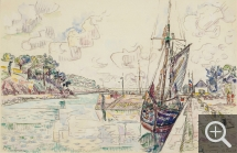 Paul SIGNAC (1863-1935), River of Tréboul, June 13, 1929, watercolour, 29.6 x 45 cm. Collection particulière. © All rights reserved