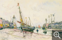 Paul SIGNAC (1863-1935), Le Tréport, June 13, 1930, watercolour, 29 x 44.5 cm. Private collection. © All rights reserved