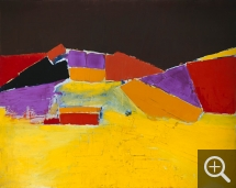 Nicolas de STAËL (1914-1955), Agrigento, 1954, oil on canvas, 73 x 92 cm. Private collection. © All rights reserved — © ADAGP, Paris, 2014
