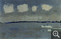 Nicolas de STAËL (1914-1955), Looking towards Le Havre, 1952, oil on board, 14 x 22 cm. Private collection. © J.L. Losi — © ADAGP, Paris, 2014