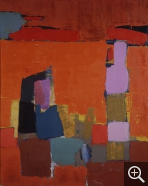 Nicolas de STAËL (1914-1955), Figures by the sea, 1952, oil on canvas, 161.5 x 129.5 cm. Düsseldorf, Kunstsammlung Nordrhein-Westfalen. © Walter Klein — © ADAGP, Paris, 2014