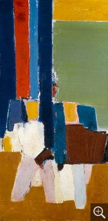 Nicolas de STAËL (1914-1955), Le Lavandou, 1952, oil on canvas, 195 x 97 cm. Paris, musée national d'art moderne (MNAM) — Centre Pompidou. © Centre Pompidou, MNAM-CCI, Dist. RMN-Grand Palais / Droits réservés — © ADAGP, Paris, 2014
