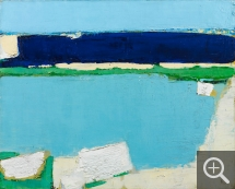 Nicolas de STAËL (1914-1955), Seascape at Dieppe, 1952, oil on canvas, 65 x 81 cm. Collection particulière. Courtesy galerie Applicat-Prazan — © Londres, Art Digital Studio — © ADAGP, Paris, 2014