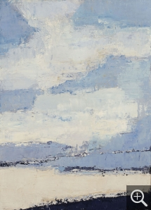 Nicolas de STAËL (1914-1955), Sea and Clouds, 1953, oil on canvas, 100 x 73 cm. Private collection. © J. Hyde — © ADAGP, Paris, 2014