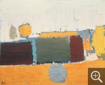 Nicolas de STAËL (1914-1955), Landscape in Vaucluse n°2, 1953, oil on canvas, 65 x 81 cm. © Buffalo, NY, Albright-Knox Art Gallery. Gift of the Seymour H.Knox Foundation, INC., 1969 — © ADAGP, Paris, 2014