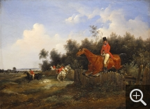 Edouard SWEBACH (1800-1870), Fox-hunting, 1834, oil on canvas, 25 x 33 cm. © Cherbourg-Octeville, musée d'art Thomas Henry / Daniel Sohier