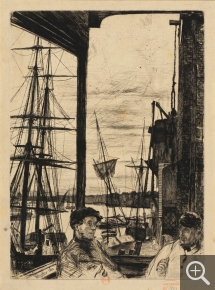 James McNeill WHISTLER (1834-1903), Rotherhithe, 1871, eau forte. Paris, Bibliothèque nationale de France, département des Estampes et de la photographie. © Paris, BnF