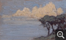 Jean Francis AUBURTIN (1866-1930), Effect of Clouds on Pines. Seaside, gouache and charcoal on paper, 32 x 51.1 cm. © MuMa Le Havre / Charles Maslard