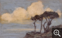 Jean Francis AUBURTIN (1866-1930), Varengeville. Strong Effect of Clouds, Seaside, gouache and charcoal on paper, 32 x 51.5 cm. © MuMa Le Havre / Charles Maslard