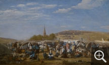 Eugène BOUDIN (1824-1898), Pardon of Ste-Anne-La-Palud, 1858, oil on canvas, 87 x 146.5 cm. © MuMa Le Havre / Florian Kleinefenn