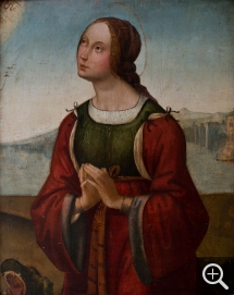 Attribué à Lorenzo di Ottavio COSTA (ca. 1460-1535), St. Margaret Campana, oil on wood, 45.5 x 37 cm. © MuMa Le Havre / David Fogel