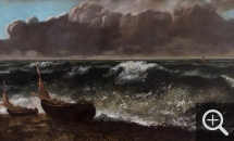 Gustave COURBET (1819-1877), The Wave, 1869, oil on canvas, 71.5 x 116.8 cm. © MuMa Le Havre / Charles Maslard