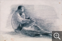 Henri Edmond CROSS (1856-1910), Pair of Lovers, Seated and Entwined, charcoal. Senn-Foulds collection. © MuMa Le Havre / Florian Kleinefenn