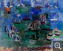 Raoul DUFY (1877-1953), Maritime Festival and Official Visit to Le Havre, oil on canvas, 91.5 x 111 cm. © MuMa Le Havre / Florian Kleinefenn — © ADAGP, Paris, 2015