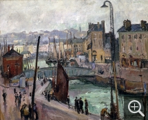 Othon FRIESZ (1879-1949), Le Havre, Bassin du Roy, oil on canvas. © MuMa Le Havre / Florian Kleinefenn — © ADAGP, Paris, 2013