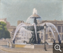 Charles LACOSTE (1870-1959), Fountain, Place de la Concorde, 1931, oil on canvas, 46 x 55 cm. © MuMa Le Havre / Charles Maslard