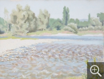 Charles LACOSTE (1870-1959), Loire Riverbank, 1933, oil on board, 27 x 35 cm. Senn-Foulds collection. © MuMa Le Havre / Charles Maslard