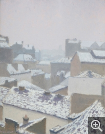 Charles LACOSTE (1870-1959), Snow on Rooftops, 1931, oil on board, 32 x 45.5 cm. Senn-Foulds collection. © MuMa Le Havre / Charles Maslard