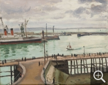 Albert MARQUET (1875-1947), The Outer Harbour of Le Havre, 1934, canvas pasted on board, 33 x 40.8 cm. © MuMa Le Havre / Florian Kleinefenn — © ADAGP, Paris, 2015