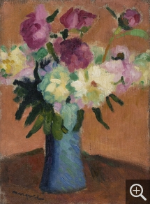 Albert MARQUET (1875-1947), Peonies, ca. 1898-1900, oil on canvas, 33 x 25 cm. © MuMa Le Havre / Charles Maslard — © ADAGP, Paris, 2015