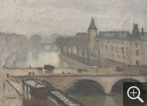 Albert MARQUET (1875-1947), Pont Saint-Michel, Paris, ca. 1914-1918, oil on canvas pasted on board, 16 x 22 cm. © MuMa Le Havre / Charles Maslard