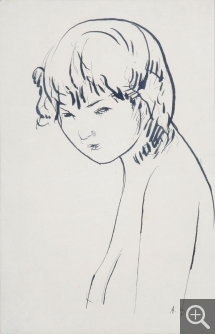 André DUNOYER DE SEGONZAC (1884-1974), Head of Woman, Indian ink, 17.5 x 27 cm. Senn-Foulds collection. © MuMa Le Havre / Charles Maslard — © ADAGP, Paris, 2013