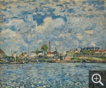Alfred SISLEY (1839-1899), The Seine at Point-du-Jour, 1877, oil on canvas, 38.2 x 46.2 cm. © MuMa Le Havre / David Fogel