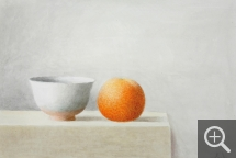 Xavier VALLS (1923-2006), Pottery with Orange, 1972, watercolour, 29 x 44 cm. Senn-Foulds collection. © MuMa Le Havre / Charles Maslard — © ADAGP, Paris, 2013