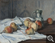 Victor Alfred Paul VIGNON (1847-1909), Apples and Pitcher, oil on canvas, 32 x 41 cm. © MuMa Le Havre / Charles Maslard