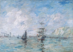 Eugène BOUDIN (1824-1898), The Port of Dieppe, ca. 1896, oil on canvas. © Honfleur, musée Eugène Boudin / Henri Brauner