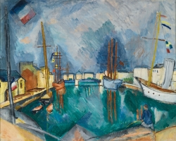 Raoul DUFY (1877-1953), The Port of Le Havre, vers 1910, oil on canvas, 65.5 x 81.4 cm. Private collection. © Sotheby's, New York / Adagp, Paris 2019
