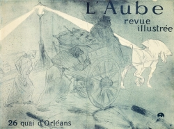 Henri de TOULOUSE-LAUTREC (1864-1901), L'Aube, revue illustrée, 26 quai d'Orléans, 1896, lithographie en deux couleurs. Bibliothèque nationale de France, département Estampes et photographie. © Gallica.bnf.fr / Bibliothèque nationale de France