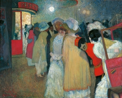 Piet VAN DER HEM (1885-1961), Moulin rouge, vers 1908-1909, oil on canvas, 81 x 100 cm. Private collection, courtesy Mark Smit Kunsthandel, Netherlands. © All rights reserved / courtesy Mark Smit Kunsthandel, Pays-Bas