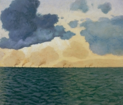Félix VALLOTTON (1865-1925), En rade du Havre, 1918, oil on canvas, 45 x 54 cm. Private collection. © Fondation Félix Vallotton, Lausanne