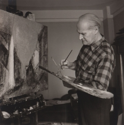 Joseph BREITENBACH (1896-1984), Lyonel Feininger, ca. 1943, photography. The Lyonel Feininger Project LLC, New York – Berlin