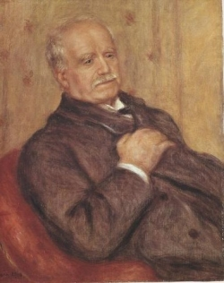 Pierre-Auguste RENOIR (1841-1919), Portrait de Paul Durand-Ruel, 1910, oil on canvas, 65 x 54 cm. . © Durand-Ruel & Cie