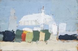 Nicolas de STAËL (1914-1955), Le Lavandou, 1952, oil on plyboard, 12 x 18 cm. Private collection. © J.L. Losi — © ADAGP, Paris, 2014
