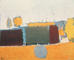 Nicolas de STAËL (1914-1955), Paysage du Vaucluse n°2, 1953, huile sur toile, 65 x 81 cm. © Buffalo, NY, Albright-Knox Art Gallery. Gift of the Seymour H.Knox Foundation, INC., 1969 — © ADAGP, Paris, 2014