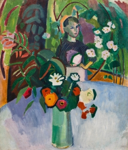 Raoul DUFY (1877-1953), Jeanne with Flowers, 1907, oil on canvas, 90.5 x 77.5 cm. . © MuMa Le Havre / David Fogel © ADAGP, Paris, 2013
