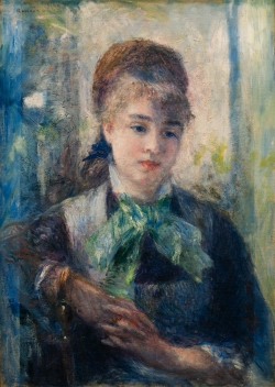 Pierre-Auguste RENOIR (1841-1919), Portrait of Nini Lopez, 1876, oil on canvas, 54 x 39 cm. © MuMa Le Havre / David Fogel
