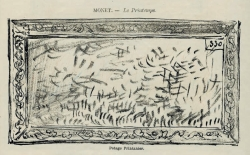SOCK, Claude Monet, Le printemps. Potage printanier in La Revue comique. Salon havrais, Le Havre, Lepelletier, 1880. BMLH